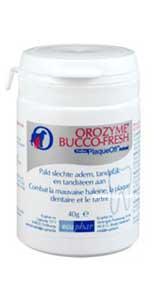 Orozyme bucco fresh zit in een potje met een lepeltje erbij