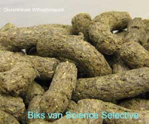 Biks van Science Selective zien er smakelijk uit. Geen geperste korrels maar structuur is goed te zien.
